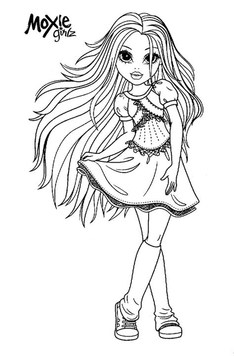 Moxie Girlz Coloring Pages moxie girlz coloring pages 5 coloring