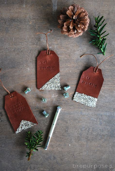 diy leather sted gift tags hometalk