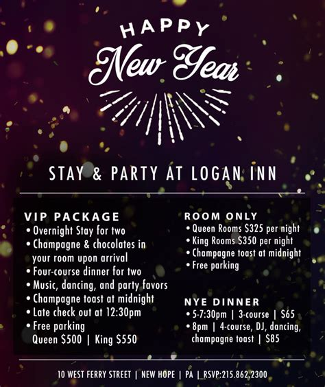 new year dinner package 2016 2017 bucks county new year s guide bucks happening