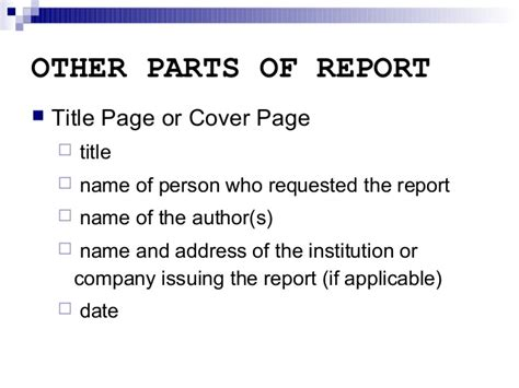 Preliminary Section In Report Writing by Report Writing Executive Summary And Other Sections