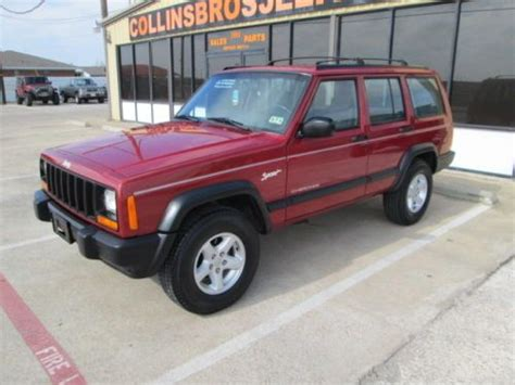 Jeep Sport Mpg Find Used 1998 Jeep Xj 2wd 4 Door Low Mileage