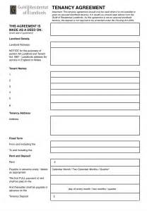Student Tenancy Agreement Template Contractual Common Law Tenancy Agreement Grl Landlord