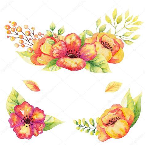 imagenes abstractas de flores marcos flores acuarelas fotos de stock 169 erikonina