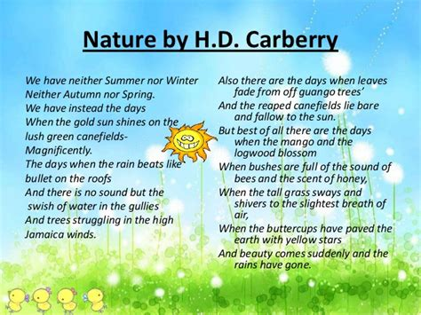 themes of nature by hd carberry nature revision meanings