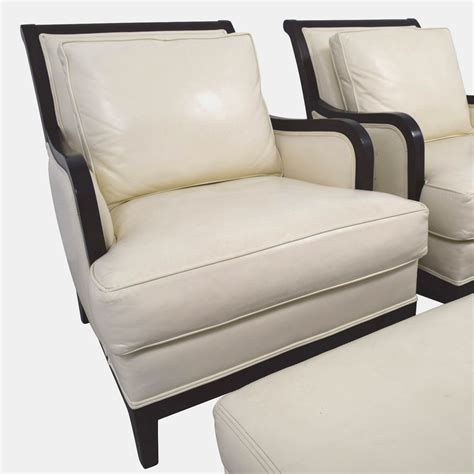 Ethan Allen Recliners 90 Ethan Allen Ethan Allen Palma Ivory Leather Chairs With Ottomans Chairs