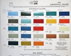 1971 chevrolet gmc truck commercial colors ditzler paint