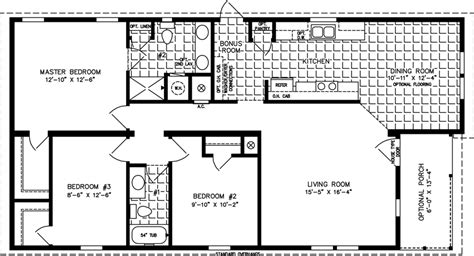 1200 Square Feet House Floor Plans Home Design And Style 1200 Square Foot 4 Bedroom House Plans