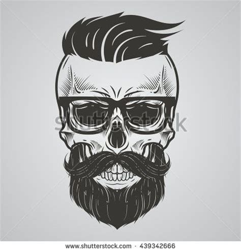bearded skull tattoo bearded skull illustration proyectos que intentar