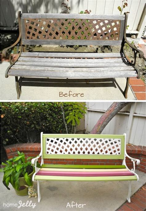 park bench rehab weekend diy project wow up an old park bench homejelly