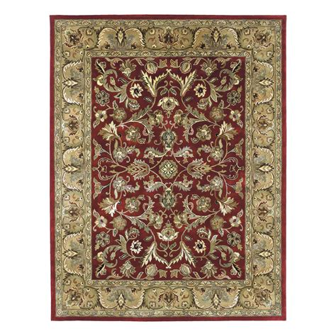 8 x 10 rugs lowes shop kaleen mystic rectangular floral wool area rug common 8 ft x 10 ft actual 8 ft x 10