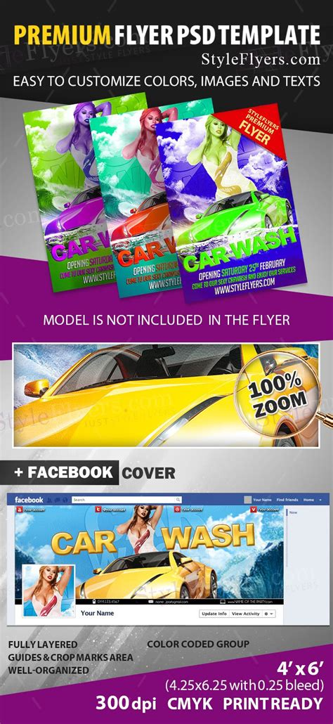 Car Wash Psd Flyer Template 16221 Styleflyers Flyer Template Psd