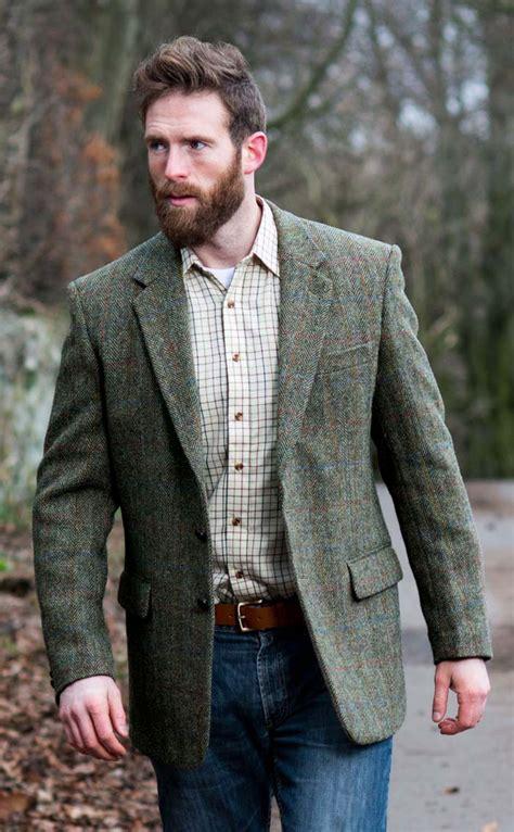 tweed color herringbone harris tweed jacket by scotweb