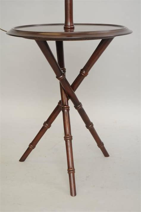 Floor L Tables by Pair Of Chippendale Faux Bamboo Wood Tripod Floor