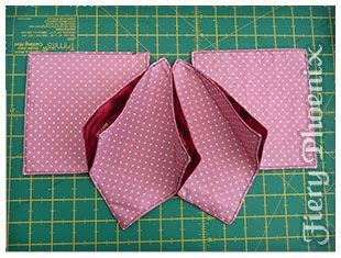 Origami Sewing Table - best 25 fabric origami ideas on fabric boxes