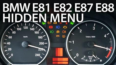 enter hidden menu  bmw  series