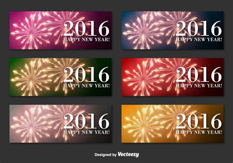 new year banner vector new year 2016 banners free vector stock
