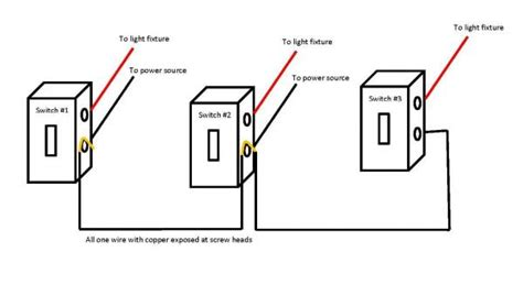 household switch wiring diagrams one power source 2 switch