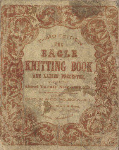 antique pattern library knitting eagle knitting book 1847 rare victorian knitting patterns