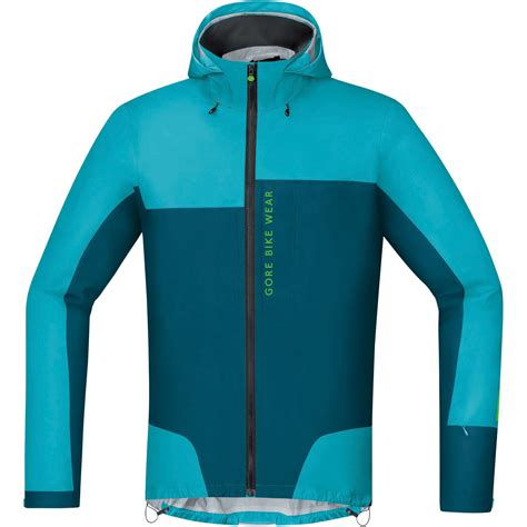 blue cycling jacket wiggle gore bike wear power trail gore tex active shell