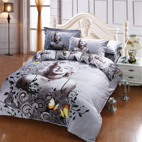 Marilyn Bedding Set by Quality 3d New Design Marilyn Quilt Cover 100