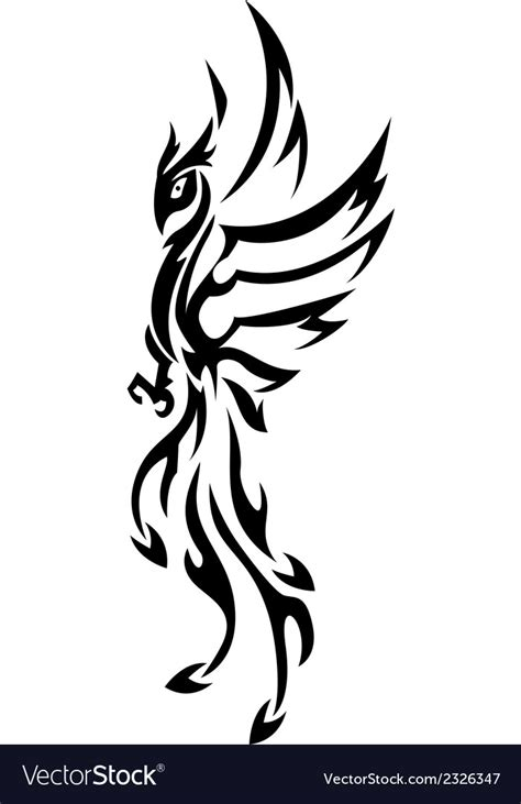 phoenix tattoo tribal royalty free vector image vectorstock