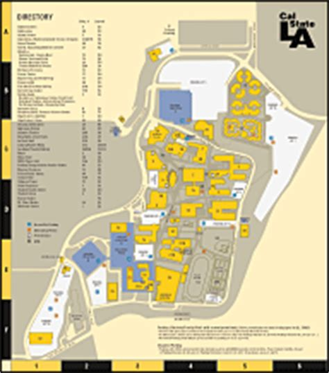 csula map cus maps california state los angeles