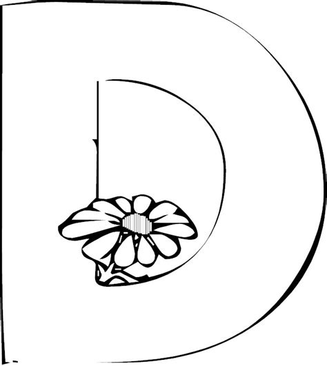 Capital Letter D Coloring Page Coloring Pages Letter D Coloring Page