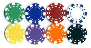 casino chip colors chip color values