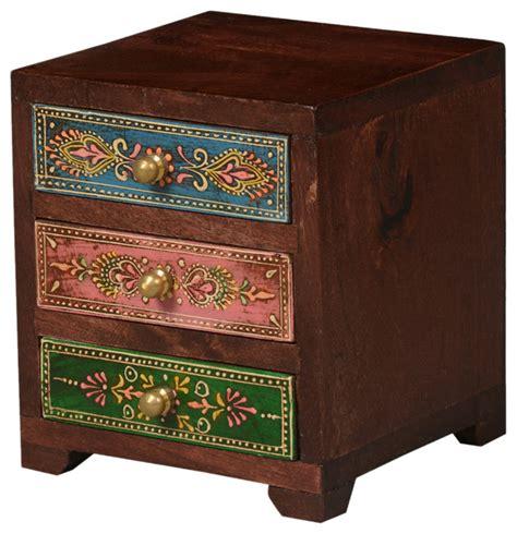 chest of drawers with jewelry storage kolkata pastel mango wood 3 drawer mini chest jewelry box