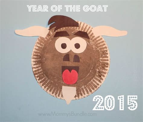 goat masks for new year paper plate goat craft for the new year goats craft and