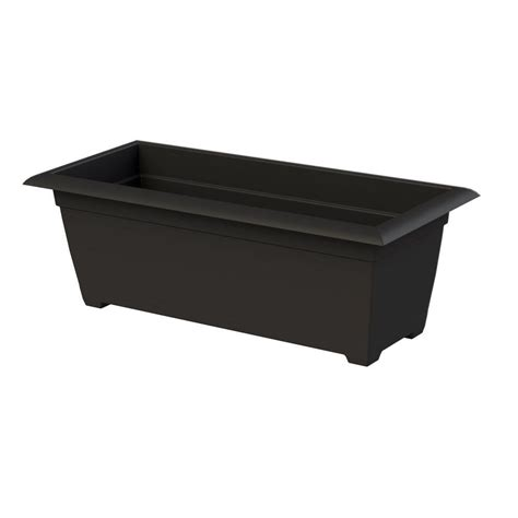 black plastic window boxes 13 in whitewashed wooden chalkboard box 0105 the home depot