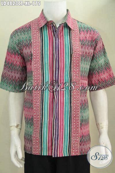 Kemeja Batik Pria Batik Tulis Lengan Pendek Warna Soft Baru Code B L kemeja batik pria dewasa motif kombinasi batik hem lengan