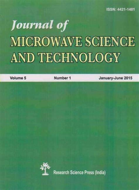 Management Science And Engineering And Mba by Buy Journal Of Microwave Science And Technology
