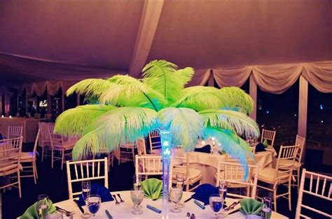 quinceanera carnival themes ostrich feather centerpieces for the carnival theme