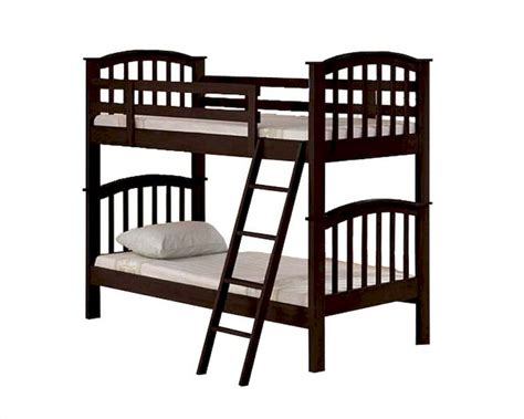 espresso bunk beds acme furniture twin over twin espresso bunk bed ac02431