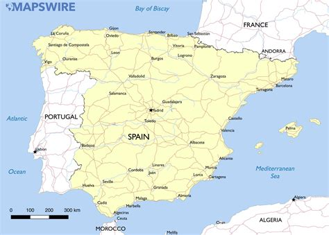 of spain free maps of spain mapswire