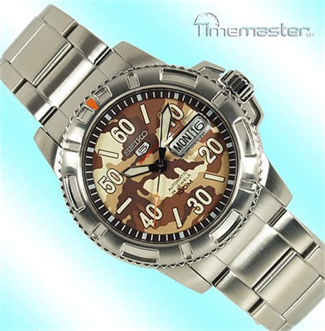 Seiko 5 Sports Srp221 2 mens seiko 5 sports auto army camo brown and beige srp221k1