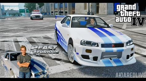 nissan skyline r34 2 fast 2 furious gta iv escape to nissan skyline gt r r34 2 fast 2