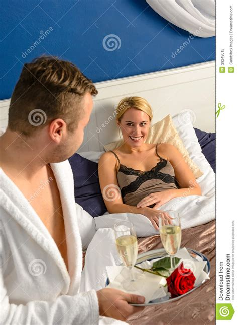 husband wife bedroom romance pics husband flirting wife bedroom romantic evening celebration royalty free stock photo