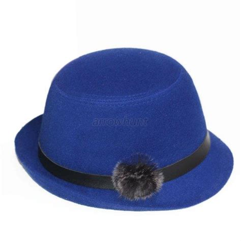 fashion womens soft wool felt fedora winter warm