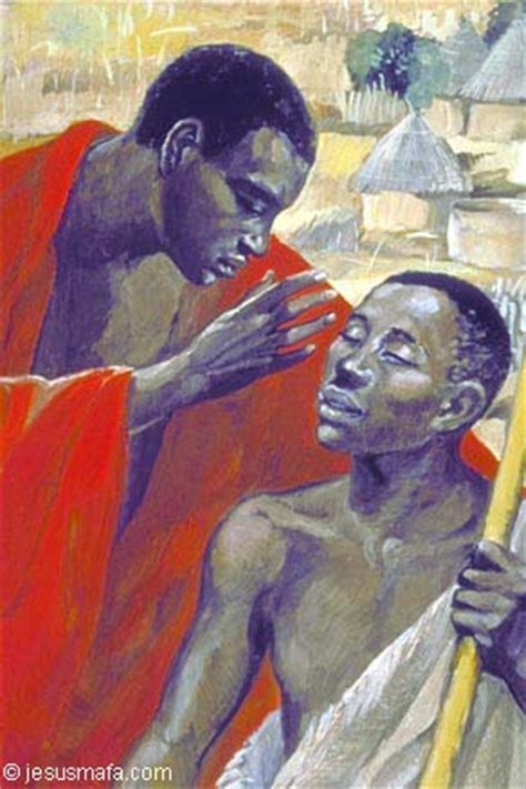 painting in mafa the healing of bartimaeus quot go said jesus your faith