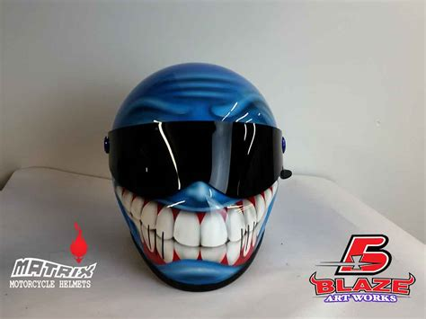 airbrushed motocross helmets custom airbrushed smiley face motorcycle helmet