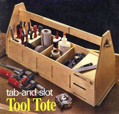 tab  slot tool tote plans woodarchivist