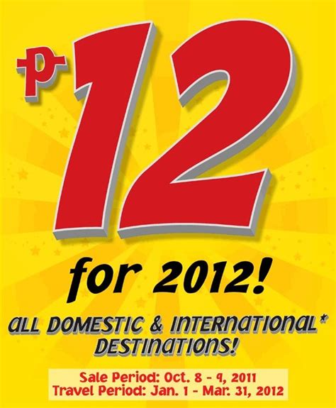 seat your heart out cebu pacific promo fare for as low as php 199 p12 for 2012 cebu pacific air systemwide seat sale now