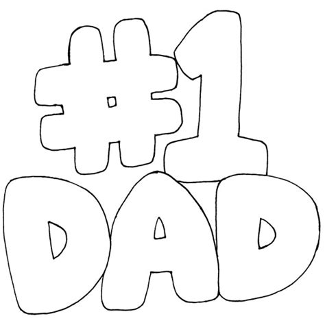 number 1 dad coloring pages of father s day coloring pages