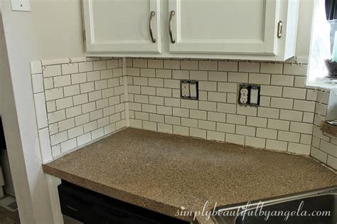 simply beautiful by angela installing a tile backsplash