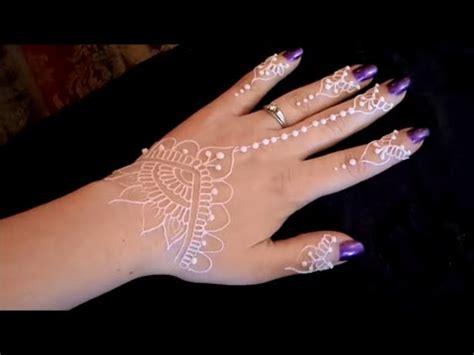 white henna tattoo tutorial henna white henna glitter gel tutorial