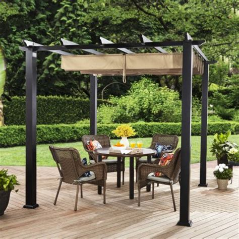 garden oasis curved pergola 359 99 garden oasis 8 ft x 10 ft curved pergola canopy