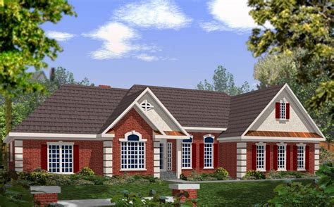stucco home plans dramatic brick and stucco ranch 2029ga 1st floor