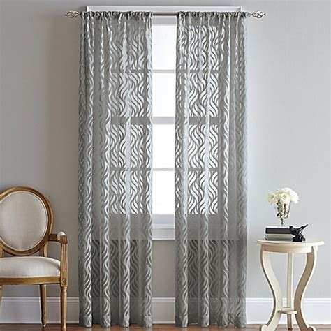 95 inch curtain rod buy lyric 95 inch rod pocket sheer window curtain panel in